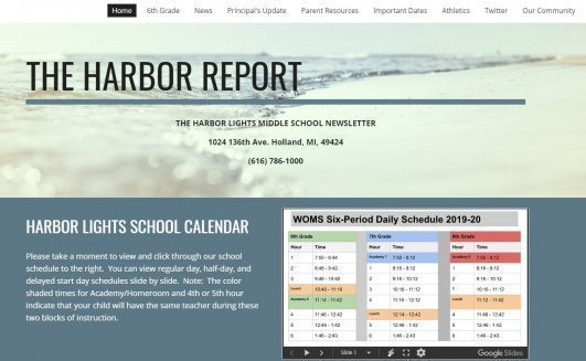 Check out The Harbor Report, the Harbor Lights Middle School Newsletter